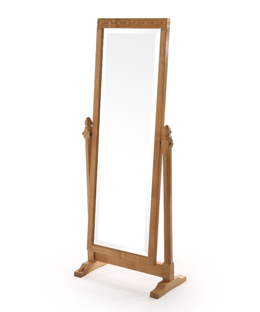 Solid oak long dressing mirror be190 shop for Dressing table long