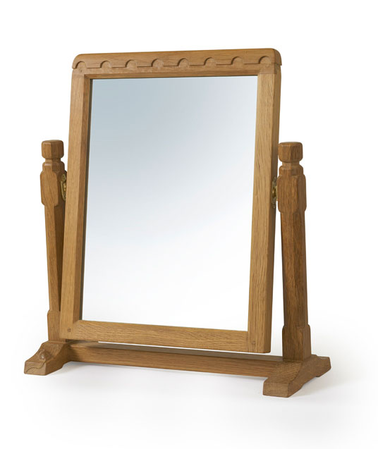 BE230 Solid Oak Stand Mirror 1'4