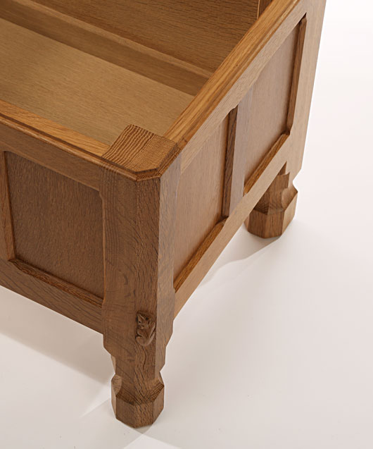 BE080 Solid Oak Blanket Chest 3