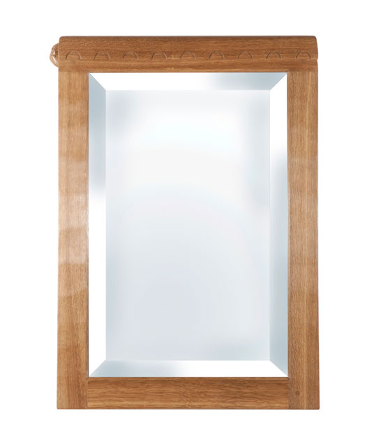 BE210 Solid Oak Portrait Wall Mirror 1'9