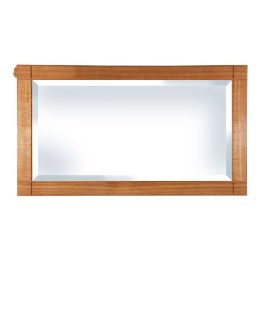 BE220 Solid Oak Wall Mirror Dual Hanging 3'6
