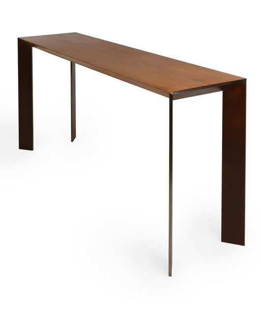 Solid Oak And Steel Consol Bs020 Shop
