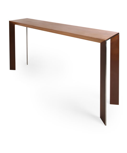 BS040 Solid Oak and Steel Console  (SOLD)