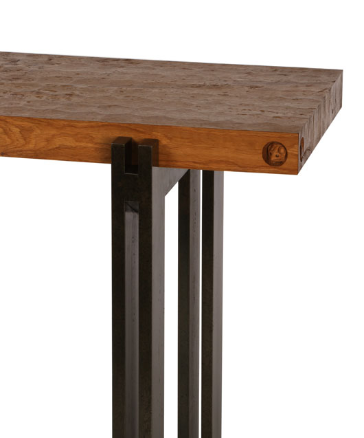 BS105 Solid Oak and Steel Console (SOLD)