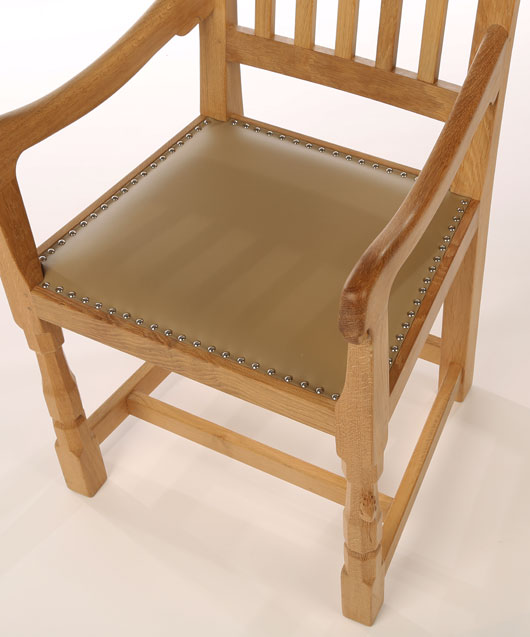 CH110 Solid Oak Curved Back Arm Chair