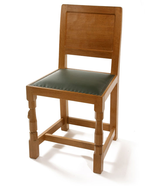 CH080 Solid Oak Panel Back Dining Chair