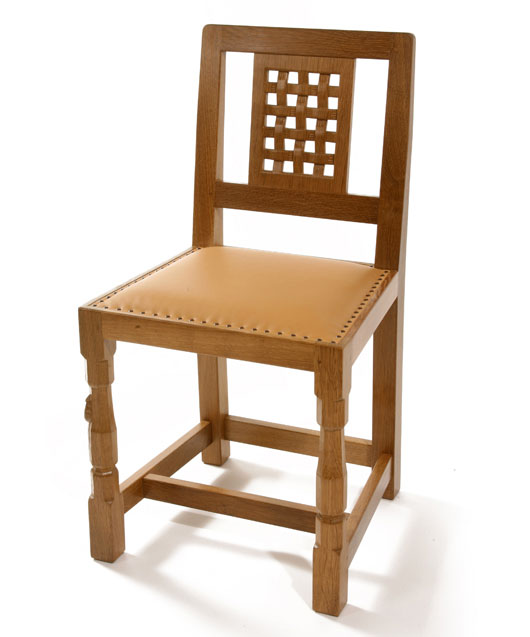 CH050 Solid Oak Lattice Back Dining Chair