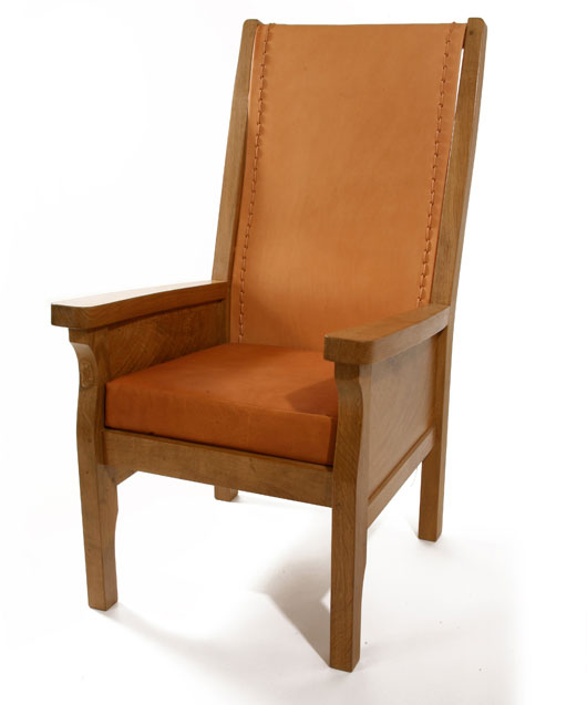 CH020 Solid Oak Smoking Chair