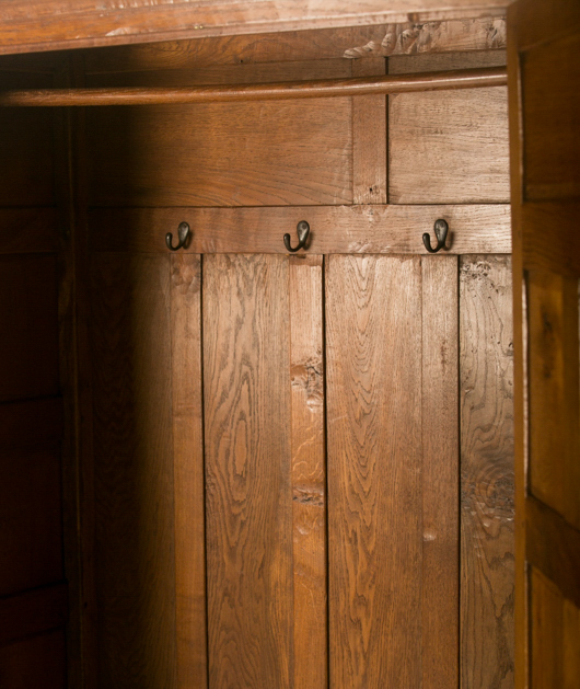 CM72 Classic Mouseman 1930s Panelled Wardrobe SOLD