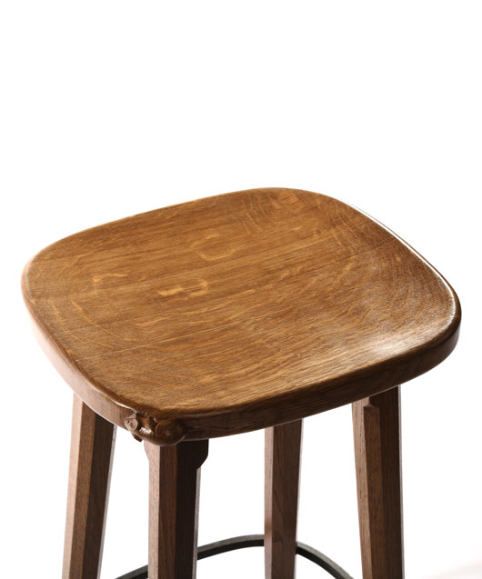CT140 Solid Oak Bar Stool 2