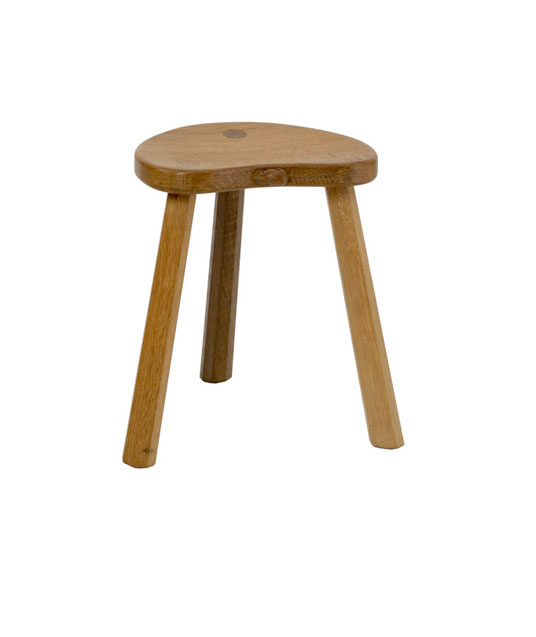 CT200 Solid Oak Calf Stool, three legs 1'2