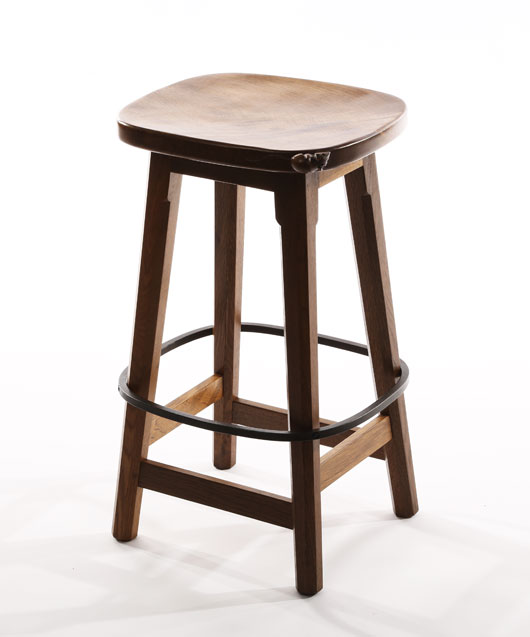 CT141 Solid Oak Low Bar Stool 2'1½