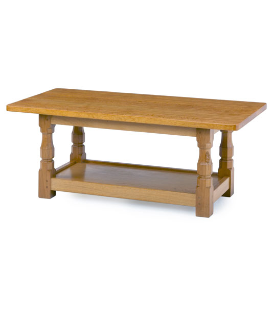 CT030 Solid Oak Refectory Coffee Table 4'W 2'D