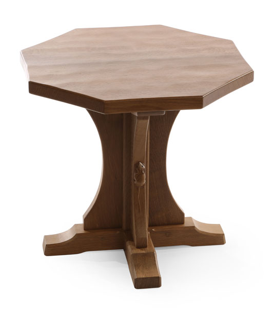 CT090 Solid Oak Octagonal Coffee Table 1'8