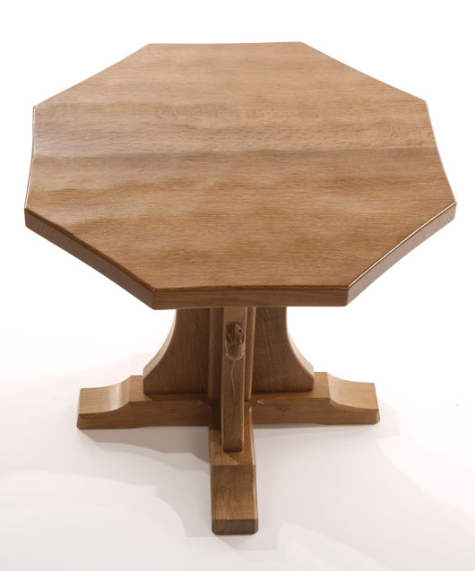 CT090 Solid Oak Octagonal Coffee Table 1