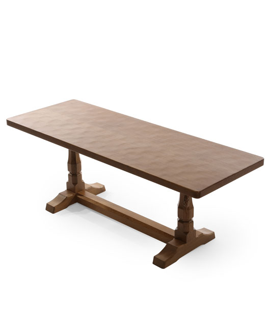 CT050 Solid Oak Refectory Coffee Table 4'0