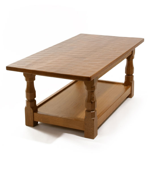 CT020 Solid Oak Refectory Coffee Table 4'W 2'9
