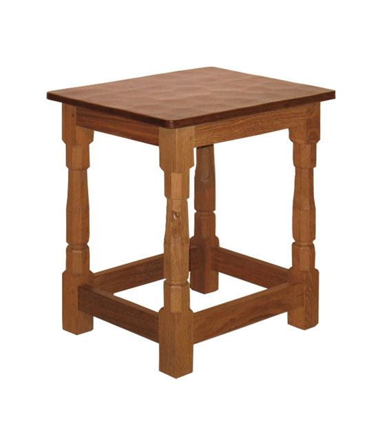 "CT170 Solid Oak Stool/Coffee Table 1'6½""W"
