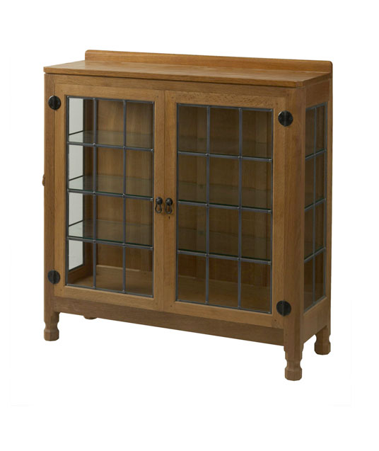 CD060 Solid Oak Display Cupboard 3'6