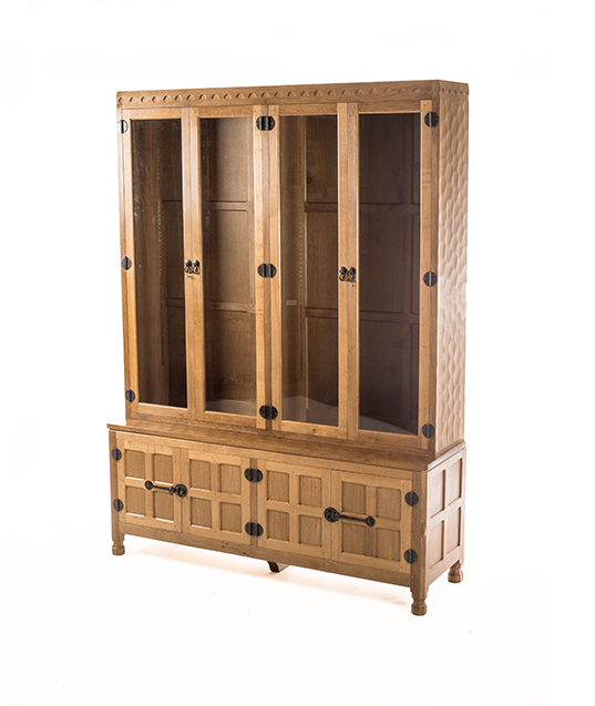 CD050 Solid Oak Display Storage Cupboard 5'0