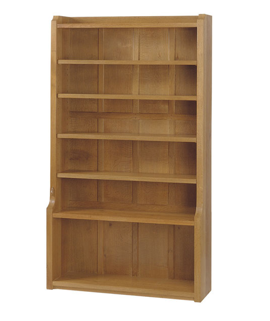 DB010 Solid Oak Bookcase 3'6