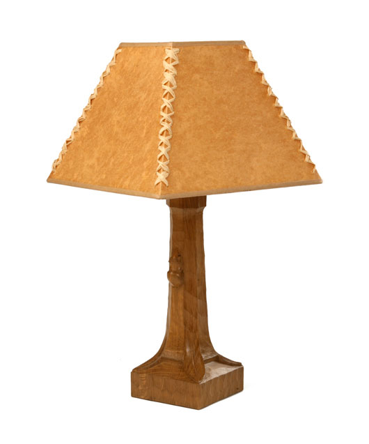 GS060 Solid Oak Table Lamp 10½