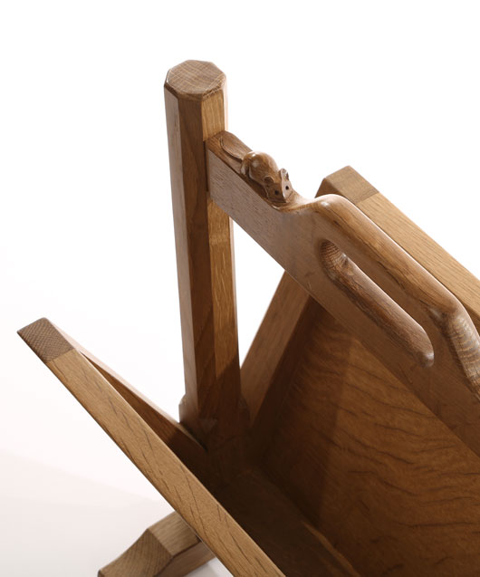 MS110 Solid Oak Magazine Rack 1