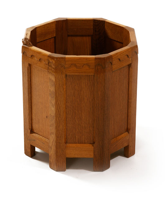 MS100 Solid Oak Octagonal Planter 1'2