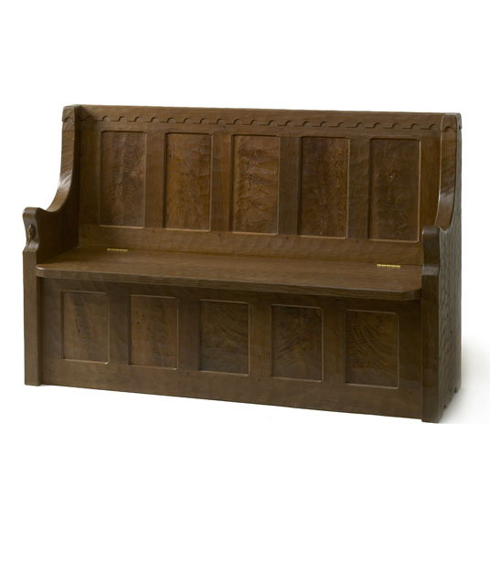 MS010 Solid Oak Settle 4'6