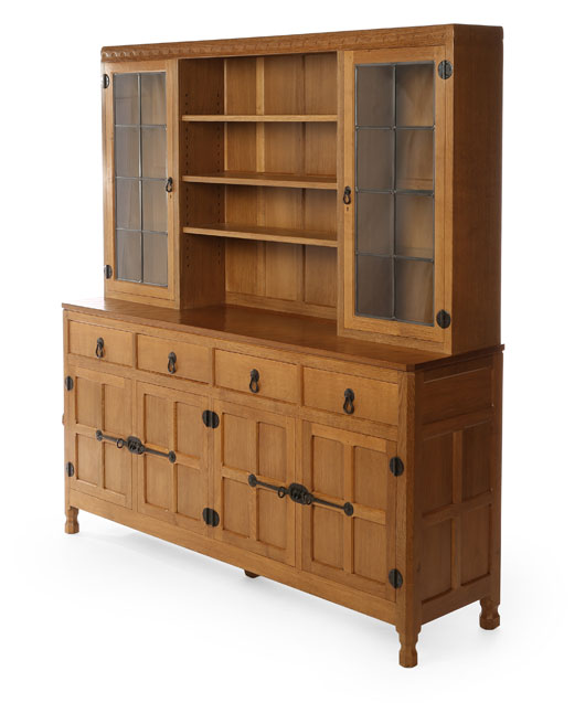 SD030 Solid Oak Display Dresser 6'0