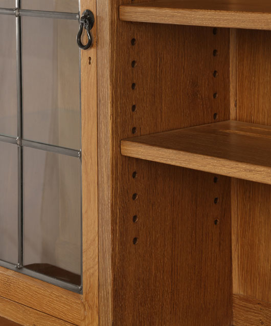 SD030 Solid Oak Display Dresser 6