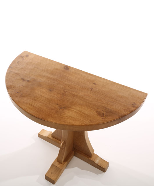 TA130 Solid Oak Half Round Hall Table 2