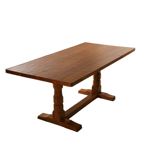 Solid oak refectory dining table ta050 shop for Shop dining tables