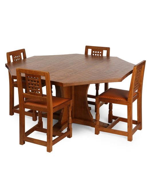 TA080 Solid Oak Octagonal/ Round Dining Table 5