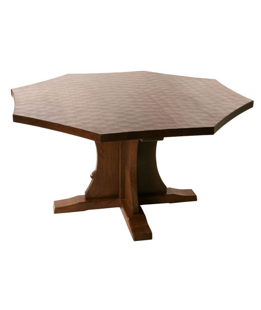 Solid Oak Octagonal Round Dining Table Ta090 Shop