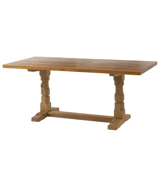 Solid oak refectory dining table ta020 shop for Shop dining tables