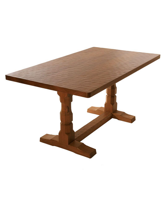 TA060 Solid Oak Refectory Dining Table 5'L