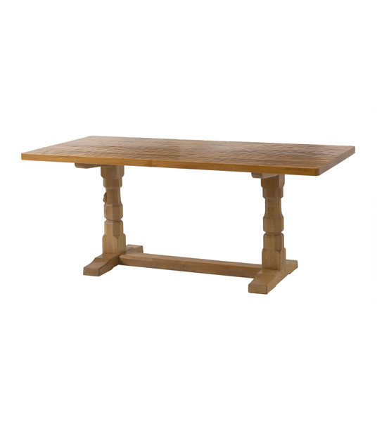 TA040 Solid Oak Refectory Dining Table 7'L