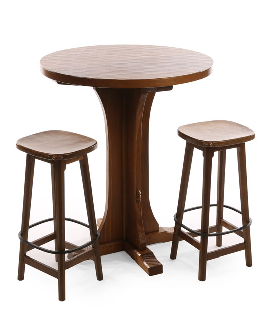 TA131 Solid Oak Octagonal/ Round Breakfast/Bar Table 3
