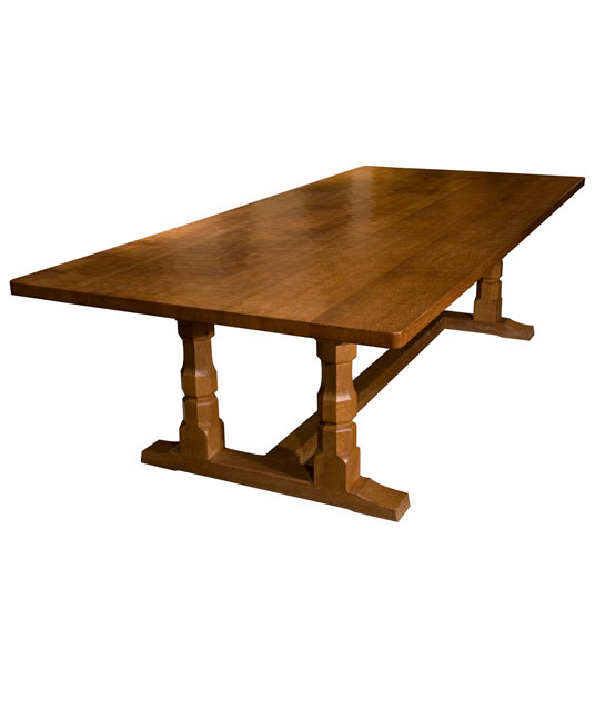 TA010 Solid Oak Refectory Dining Table 10'L